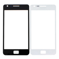 Wholesale Galaxy Sii Replacement - New Black White Front Screen Faceplate Outer Glass Lens For Samsung Galaxy SII S2 I9100 Replacement Part