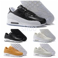 Wholesale Running Shoes For Men Cheaper - New Arrival 2017 M 90 Woven Running Shoes cheaper For Men Women with High Quality Soft Air Cushion Sports Trainers Sneakers Size 36-46