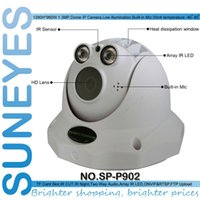 Wholesale Low Lux Dome Camera - SunEyes SP-P902 Dome IP Camera HD 960P 1.3MP with TF Micro SD Card Slot Two Way Audio Array IR 50M Low Lux