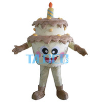 Wholesale Adult Cake Costume - High Quality New Template Cake Adult Mascot Costume For Festival Birthday Party