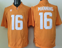 Hommes Short Sports Jersey Tennessee Volunteers Orange 11 Joshua Dobbs 16 Peyton Embroidery Stitching Noms Cheap Top Quality Free Shipping