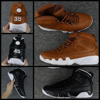 Wholesale mens winter glove - Mens 9 Men Pinnacle Basketball Glove shoes Black brown number 35 45 9s Basket Ball Sports Sneaker Trainers Shoes