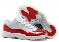 Wholesale Mens Leather Boots Discount - wholesale new retro 11 bred Basketball Shoes Black Red Sports Boots 11s Low Concords Mens Athletics Discount Sneakers free shipping