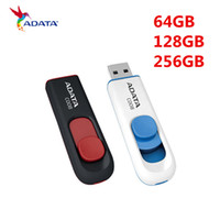 Wholesale Gb Flash Drives Adata - ADATA 64GB 128 GB Leather USB Flash Drive USB2.0 Memory Stick Jump Pen Drive 128gb 256GB USB 2.0 128GB USB 2.0 Flash Drive Memory Stick