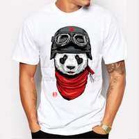 Wholesale Panda M - Newest 2016 men's fashion short sleeve cute panda printed t-shirt Harajuku funny tee shirts Hipster O-neck cool tops