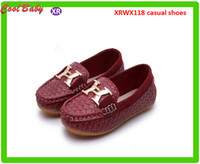 Wholesale Korean Fashion Shoes For Boys - Spring Summer Leather Shoe Children Shoe Korean Fashion Tide Big boy Casual Shoes Peas letter X Shoes 4Colors For 0-5years Olds Kids XRWX118
