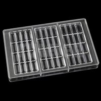 Wholesale Baking Chocolate Bar - 1 Piece DIY Polycarbonate Chocolate Mould Jelly cake decoration Pastry Baking Dish Hard PC sweet Candies chocolate Bar molds