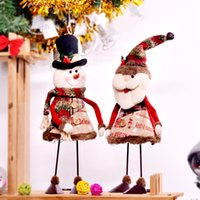 Wholesale Hockey Supplies - Swinging Christmas dolls Christmas decorations supplies 2018 New Creative Swinging Santa Claus Snowman Christmas dolls Decorative Gift