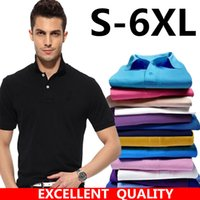 Wholesale high collar men shirt - 2018 High Quality Cotton Turn Down Collar Summer Men embroidery Polo Shirt Fashion Casual Polo Shirt Plus Size XS-3XL