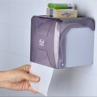 Wholesale Toilet Roll Holder Waterproof - Wholesale- 2107 Square ABS Bathroom Paper Holder Toilet Wall Mounted Multi-function Roll Paper Tissue Box Waterproof Paper Holder