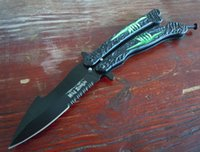 Wholesale Zombie Tactical - new benchmade balisong Mad Zombie jilt knife Free-swinging Knife survival hunting gift knife camping knives 1pcs