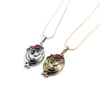 Wholesale vampire diaries - The Vampire Diaries Elena Gilbert Necklace Antique Silver Bronze Vervain Verbena Pendants Lockets Jewelry for Men Women Gift Drop Shipping