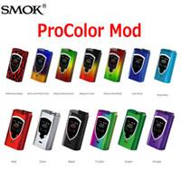 Wholesale Metal Box Power - Original SMOK ProColor TC Box Mod 225W 1.3 inch OLED Colorful Screen Powered By Dual 18650 batteries Pro Color Vape Mods 100% Genuine