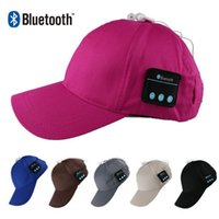 Wholesale Micphone Headset - Wearable Hat Bluetooth Earphones Baseball Cap Bluetooth Music Hat Headset Headphones With Micphone Universal Wireless Bluetooth Headphone
