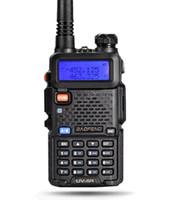 Wholesale Earpieces Vhf Radio - Baofeng UV-5R Black VHF UHF Dual Band VOX TOT Battery Saving Walkie Talkie with Free Earpiece