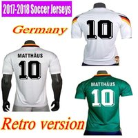 Wholesale Germany Away - 1990 1994 1998 Germany Retro version VINTAGE CLASSIC Soccer Jersey KLINSMANN 18 MATTHAEUS 10 home away 2017 2018 shirts JERSEY
