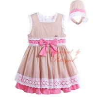 Pettigirl Lovely Infant and Toddler Girls Tiered Dresses with Headwear Bow Sash Decoration Boutique Baby Summer Tank Clothes G-DMGD906-798