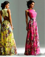Wholesale New Korean Women S Dresses - New long summer women s dresses korean clothes sexy leakage shoulder floral chiffon bodycon dress ladies fashion casual dresses for womens