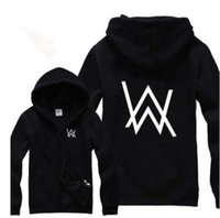 Wholesale Hiphop Masks - Wholesale-Rock Star Alan Walker Faded Printed Hoodies Autumn&Winter 2016 Hiphop Fleece Warm Zip Jackets With A mask Free Shipping