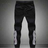 Wholesale Plus Size Thin Pants - Wholesale-Mens Joggers 100% Cotton Thin Material SweatPants Jogger Pants Men Fashion Men Plus Size Gray or Black Jogger Pants