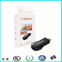 Wholesale Wholesale Hdmi Plugs - 20pcs lot Hot plug Dongle Mirascreen 2016 ezcast for HDTV WIFI Display Receiver Dongle for phone smartphone