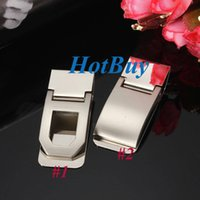 Wholesale Stainless Steel Name Holders - Wallet Slim Sided Stainless Steel Pocket Money Clip Card Credit Name Holder #3862