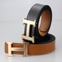 Wholesale Mens Designer Hats Caps - 2018 designer H buckle Mens Belt Luxury High Quality Designer Belts For Men And Women business belts mc belts for men without box
