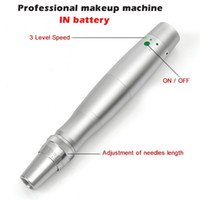 Wholesale latest lip makeup resale online - 2016 Built in battery Microneedles Beauty machine Latest Professional Electric Rotary Permanent Makeup Eyebrow lips Machine pen