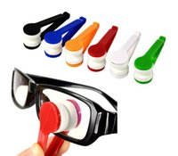 Wholesale Spectacle Cleaning - Microfiber Mini Sun Glasses Eyeglass Microfiber Brush Cleaner Cleaning Spectacles Tool Clean Brush