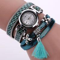 Wholesale Q Watches - 2016 New Duoya Brand Watches Women Bracelet Q Bracelet Quartz Watch Women Silver Leather Fashion Casual Watches Jewelry Wristwatches