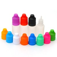 Wholesale Needle Tip Eye Dropper Bottles - Empty Plastic Dropper Bottle 10ml PE Soft Eye Drop Bottle with Childproof Cap and Long Thin Tip E cig Liquid Needle Bottle