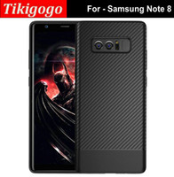 Wholesale Samsug Galaxy - 2017 New For Samsug Galaxy Note 8 Case High Grade Carbon Fiber Pattern Soft Silicon TPU case for samsung note 8 case cover