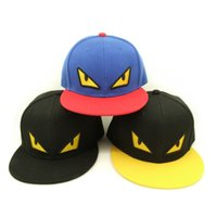 Wholesale Devil Hats - Japan Anime Cartoon 3D Embroidery Koakuma Mad Demon Devil Bird Eyes Adjustable Dancer Snapback Caps Hat for Adult Young People