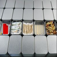 mini tea tin box Canada - 18 pcs Lot Silver Storage Tin Box Dull Polish Mini Tea Candy Headset Organizer Cute Sheet Storage Box