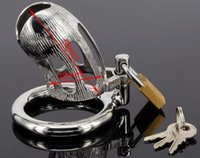 ingrosso dildo nero nuovo-M113 nuovo maschio bondage gabbia di gabinetto in acciaio inox con serratura a gabbia pene, anelli di gabbia dildo nero, giocattoli del sesso per gli uomini