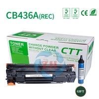 Wholesale Compatible Laser - 1xToner cartridge CB436A REC + 1BP Compatible for HP laserjet P1505N P1505 M1522NF M1522N M1120 Canon Laser Shot LBP3018 3108 3050 3150 3010