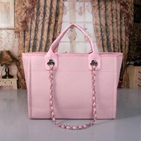 Wholesale handbags name brands - 2017 fashion Famous fashion brand name women handbags Canvas Shoulder bag chains of large capacity bags