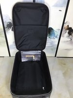 Wholesale Trolley Trunk Suitcase - Brand New 20 inch Women Bording Luggage Carry On School Bags Suitcase Magal Trolley Bags Metalic Aluminium Draw Bar Box Spinner