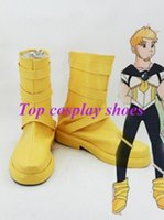 Wholesale Yellow Costumes Sailor Moon - Wholesale-Freeshipping anime Sailor Moon Male Version Of Tsukino Usagi Yellow Cosplay Boots shoes Custom made for Halloween Christmas