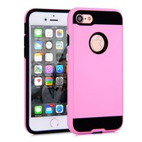 Wholesale water resistant case huawei - Hybrid Armor Brushed Cases For Iphone 6S 7Plus S6 S7 S8 Edge LG K3 G6 Huawei Mate 9 Moto G4