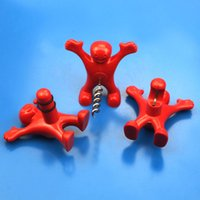 Compra Soda Rossa-Barra di cucina permanente Red Happy Man vino birra Soda Bottle Opener Stopper