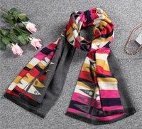 Wholesale Oversized Scarf Pattern - New Fashion Winter Stripe Pattern Cashmere Women oversized Soft Scarf Shawl, Wrap vv761