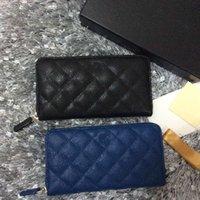 b8394a262aebe Klassischer Guy-print hochwertige Kaviar Damen Geldbörse schwarz blau  Abendtasche für die kostenlose Lieferung