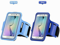 Wholesale Free Armbands - For Galaxy S6 Waterproof Sports Gym Running Armband Protector Soft Pouch Case Cover for Samsung S7 S7edge Iphone6s plus DHL free shipping