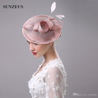 Wholesale Church Hats Fascinators - High Quality Hair Fascinators Feathers Bridal Hats For Wedding Mothers' Hats Hoed Voor Bruiloft Vrouwen Church Headpiece Hair Accessories