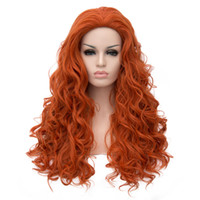 Wholesale Wig Orange Curly Long - WoodFestival ladies wigs long curly hair wigs women high quality heat resistant fiber wig synthetic daily wear orange wig cosplay wavy