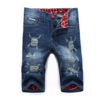 Wholesale Mens New Stylish Jeans - Wholesale-2016 New Summer Fashion Mens Ripped Denim Shorts Cotton Distressed Jeans Shorts Men Stylish Men Shorts Casual Pants Q1942