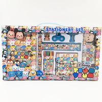 Wholesale Doraemon Birthday - Student School Supplies Cartoon Tsun Frozen Cars Spiderman Minions Doraemon Children Stationery Set birthday gifts crayon Picturel Box