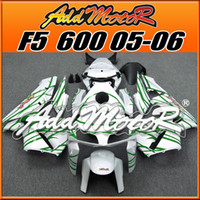 Addmotor Nuevo Diseño Injection Mould Fairings Body Kit Fit Honda F5 CBR600RR 2005 2006 Flames Green White H6587 +5 Regalos gratis Nueva llegada