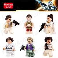 Wholesale Princess Blocks - Princess Leia Figures Collection Space Wars Princess Leia The Force Awaken The Last Jedi Slavery Leia Figure Mini Building Block Figures